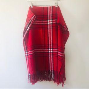 Isaac Mizrahi New York Wool Blend Plaid Throw